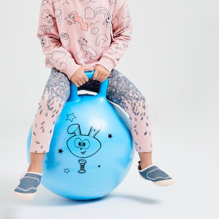 Girls' Baby Gym Leggings 100 - Pink AOP