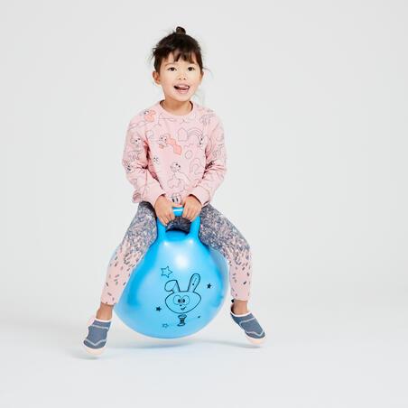 Girls' and Boys' Baby Gym Sweatshirt 100 - Pink