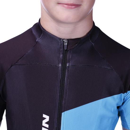 Maillot manches courtes vélo enfant 700 bleu