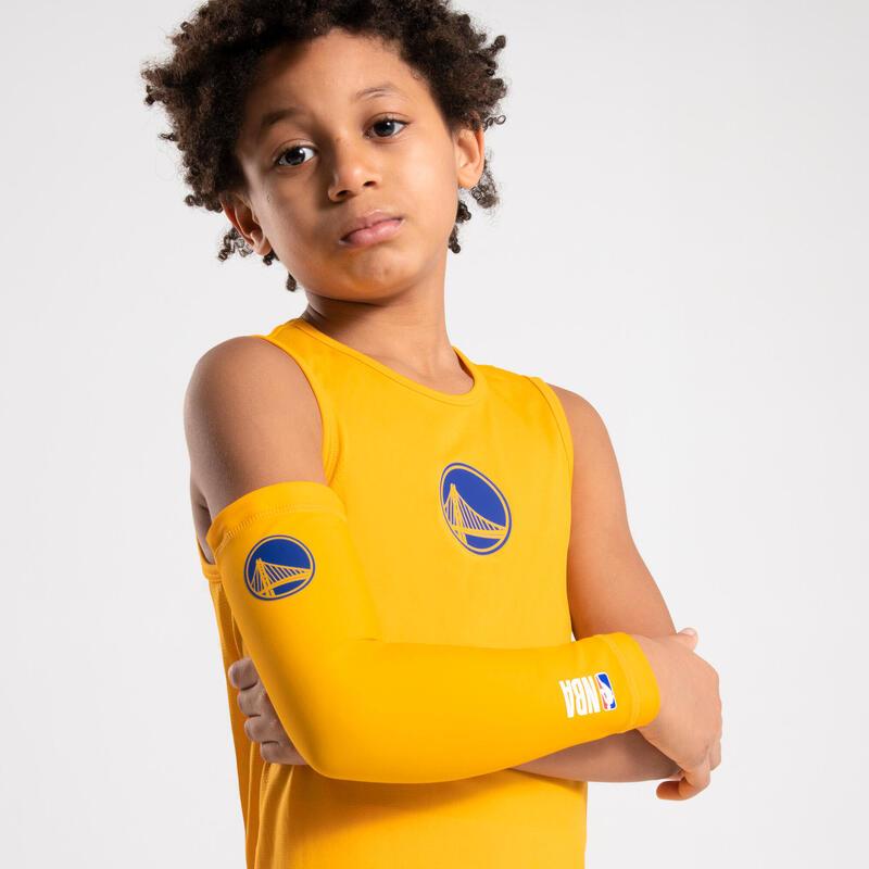 Dětské basketbalové spodní tílko Slim NBA Golden State Warriors žluté