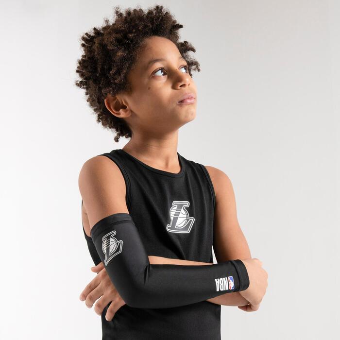 Camisola Térmica de Basquetebol UT500 NBA LOS ANGELES LAKERS Corte Slim Criança