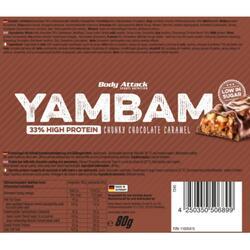 Proteinriegel Body Attack YamBam 80g Schoko Karamell