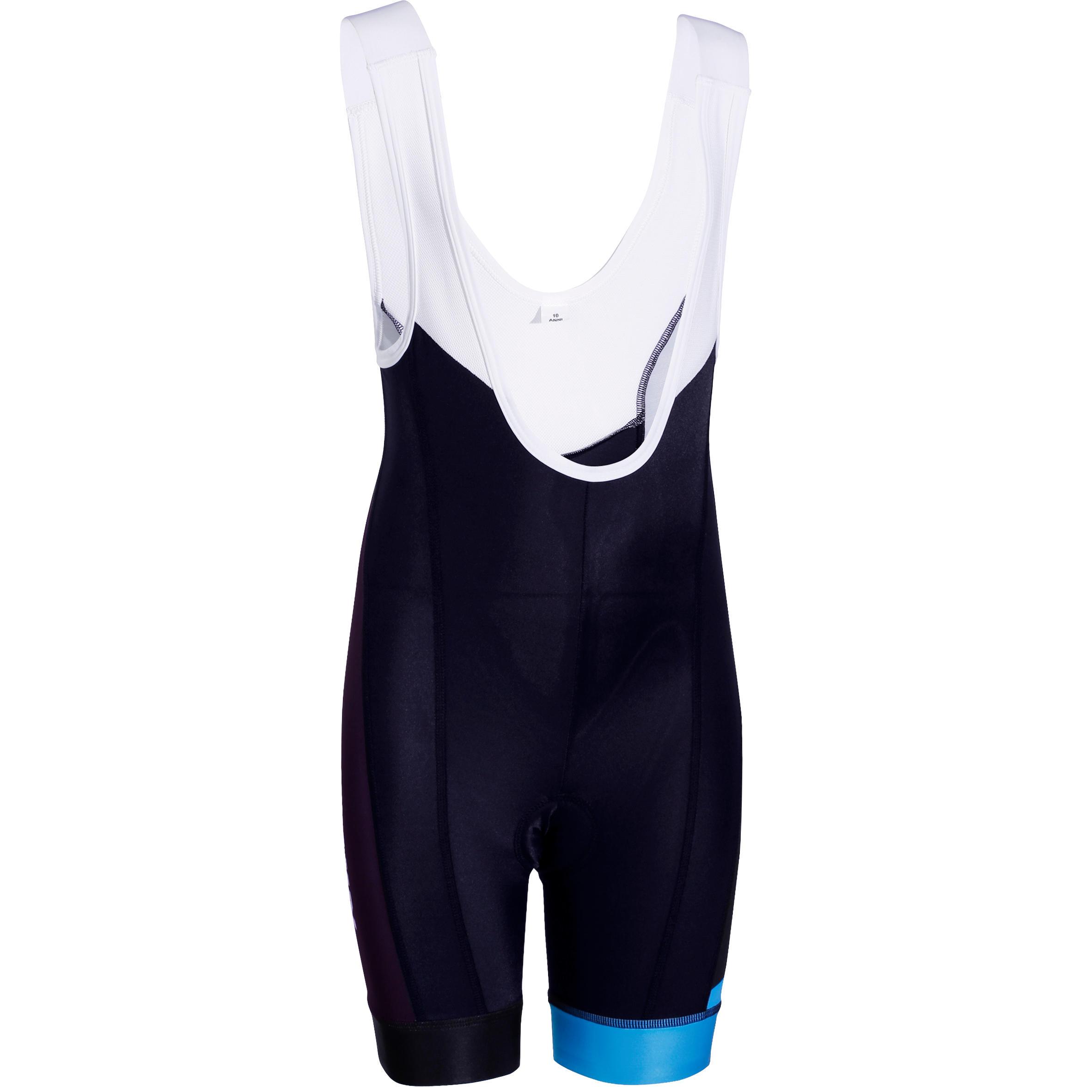700 Kids' Cycling Shorts - Black/Blue