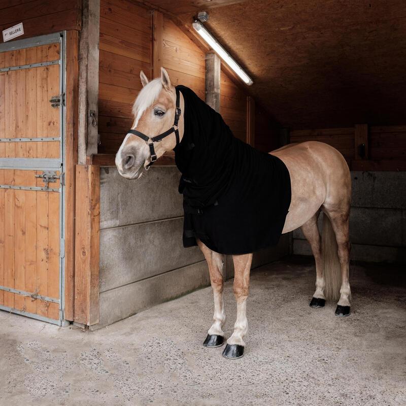 Couvre-cou cheval en polaire recyclée noir