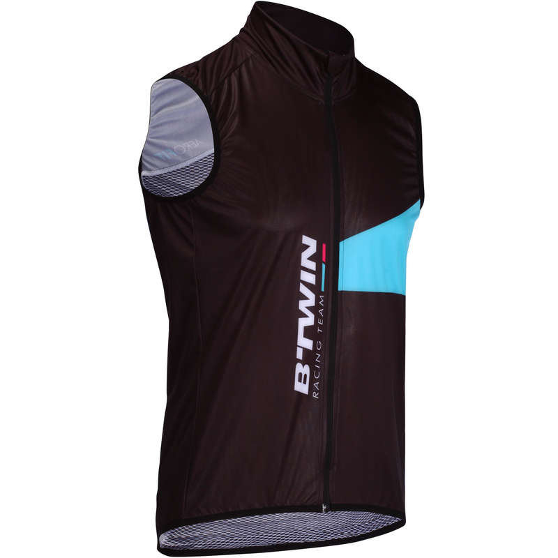 MID SEASON ROAD RACING APPAREL Cycling - Aerofit Road Cycling Gilet - Black/Blue VAN RYSEL - Cycling