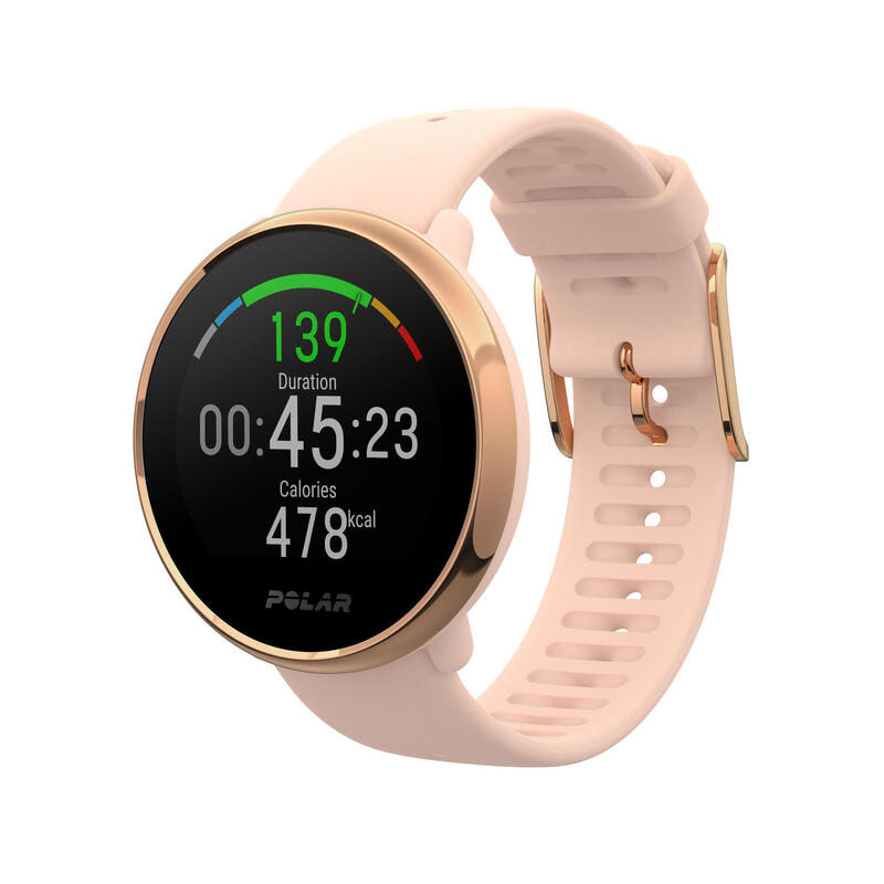 Reloj GPS Inteligente Polar Ignite Rosa Dorado Pulsómetro Muñeca