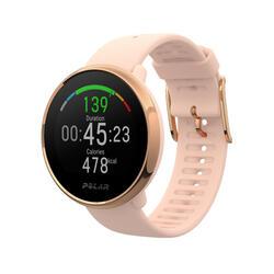Smartwatch met gps en hartslagmeting aan de pols Ignite roze/goud