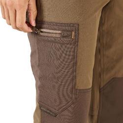 Pantalon léger respirant et résistant chasse 520 marron