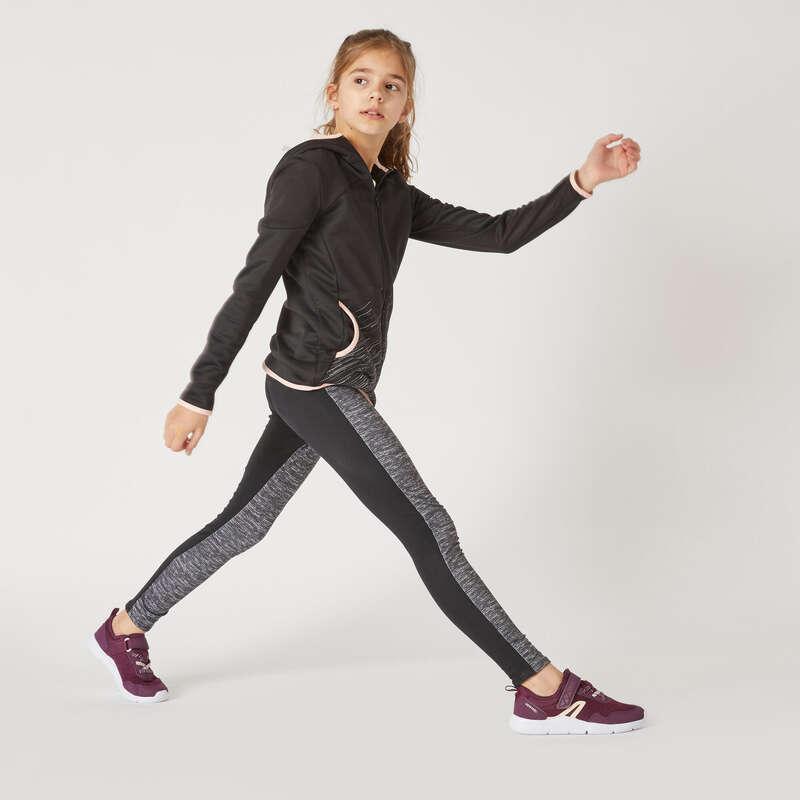 [EN] FEMALE LEISURE GYMNASTICS TRACKSUITS Физкультура - Легинсы утепл. S500 для дев. DOMYOS - Одежда для девочек
