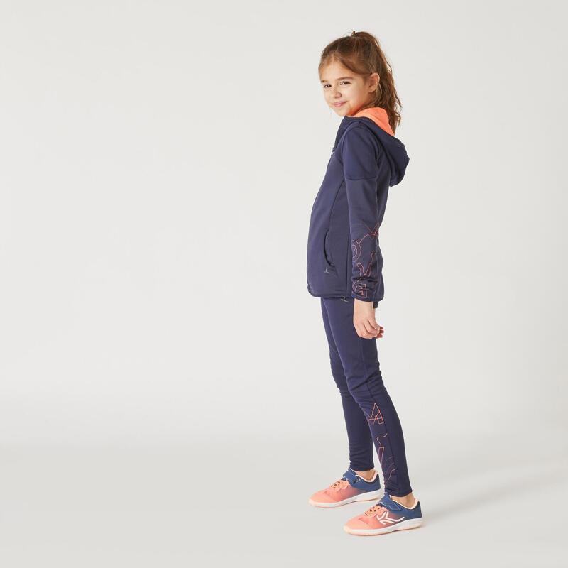 Legging chaud bleu marine imprimé fille