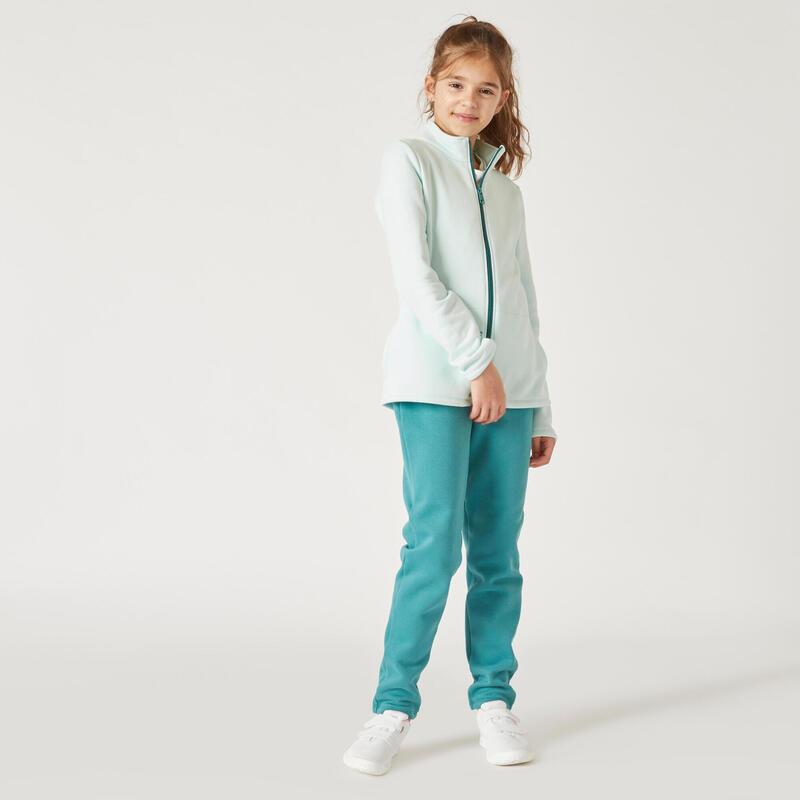 Kids' Basic Zip-Up Warm Tracksuit Warm'y - Green