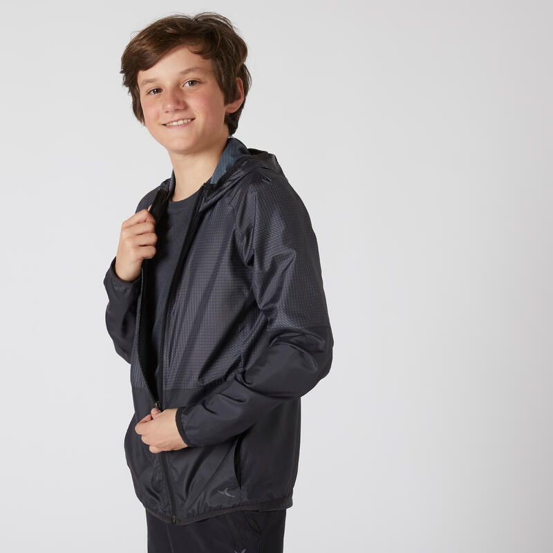 Kids' Ultra-Lightweight Compact Breathable Jacket - Black Print