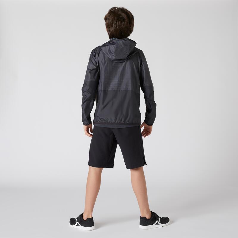 Veste ultra light compacte respirante noire imprimée ENFANT
