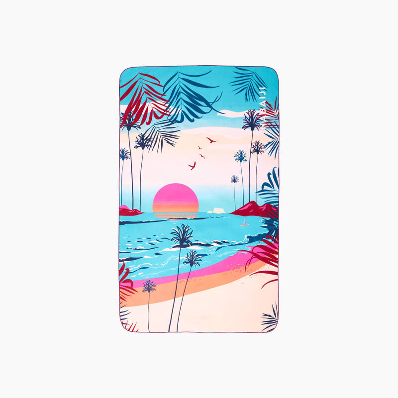 Swimming Microfibre Towel Size XL 110 x 175 cm - Printed