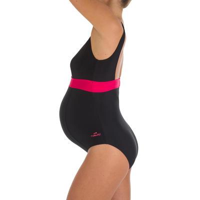 1-piece Maternity Swimsuit Romane - Black Pink