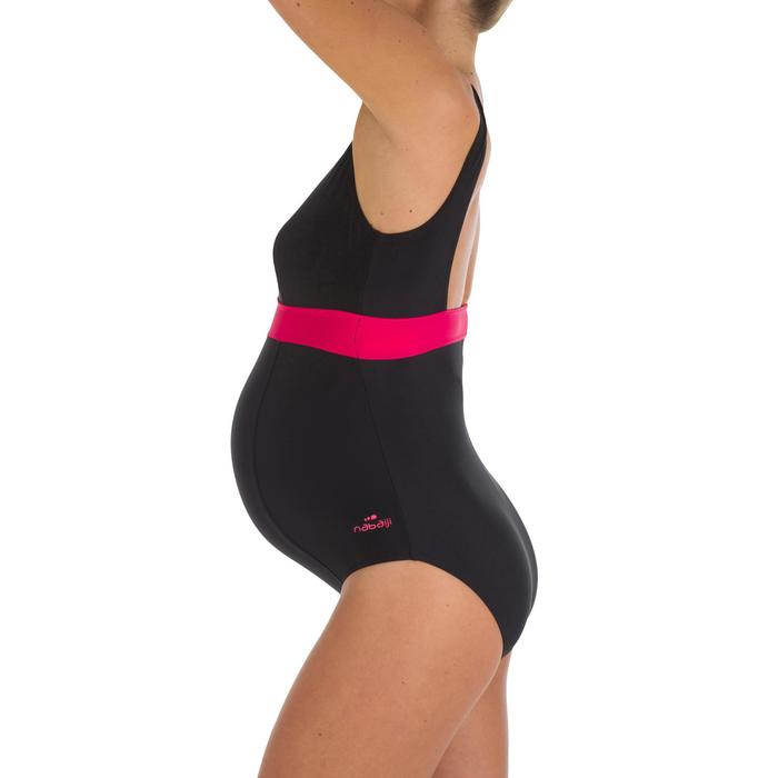 Zwangerschapsbadpak Romane zwart/roze