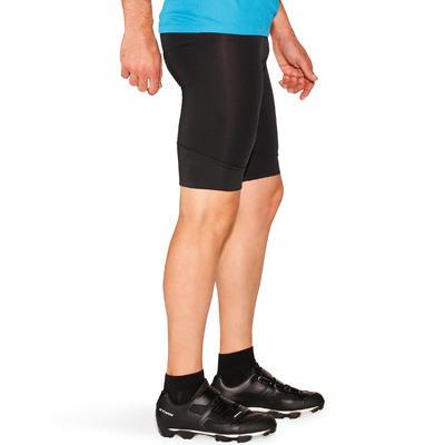 شورت بحمالات لركوب الدراجة، لون أسود، 100