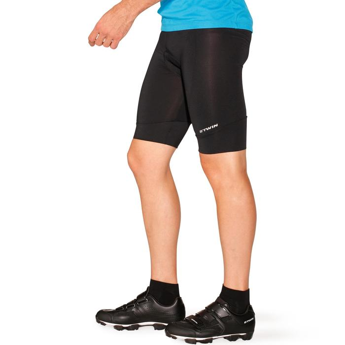 Roadcycling 100 Bibless Cycling Shorts - Black