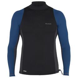 UV-Shirt UV-Top 500 langarm Surfen Herren petrol