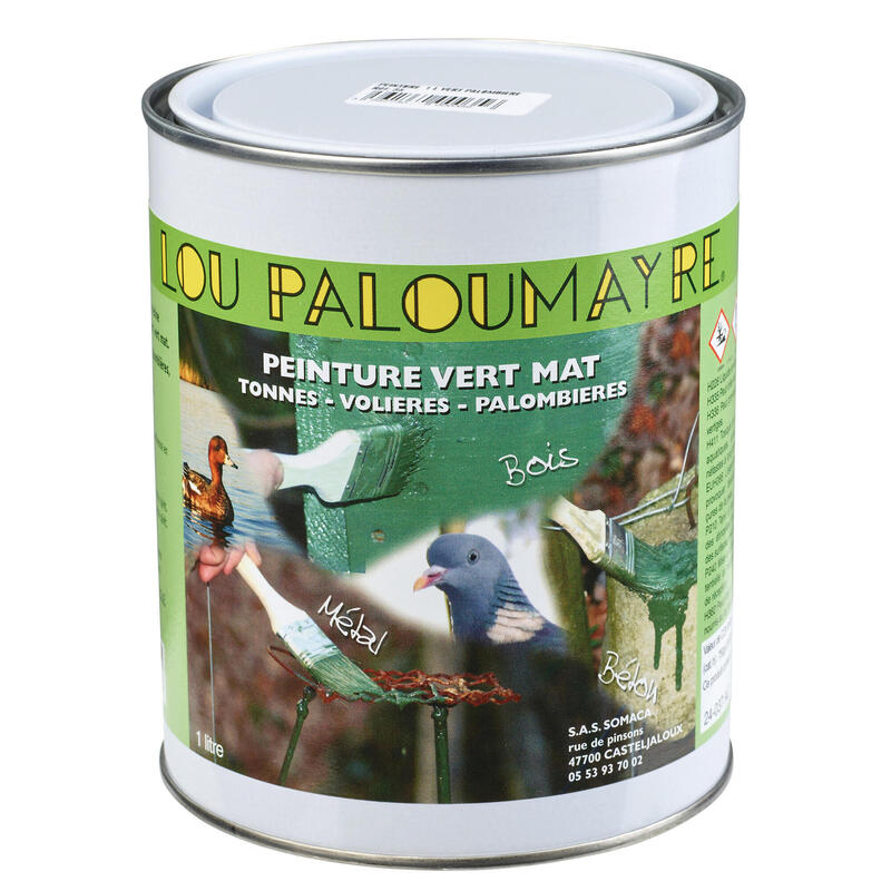 Verf voor duivencarrousel groen 1 l