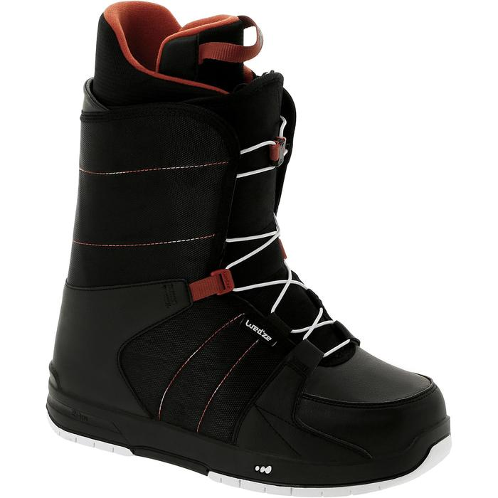 Chaussures de snowboard all mountain homme Boogey 300 fast lock noires