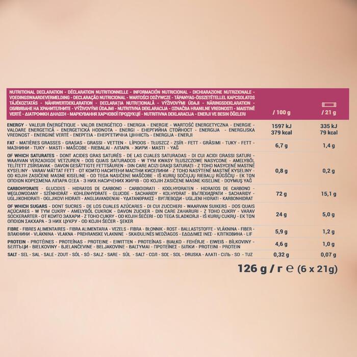 Barra de cereais CLAK frutos vermelhos 6 x 21g