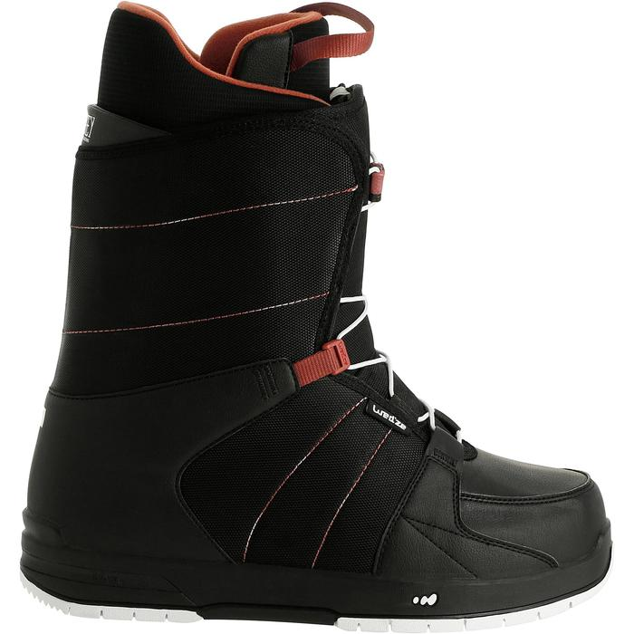 Chaussures de snowboard all mountain homme Boogey 300 fast lock noires - 20206