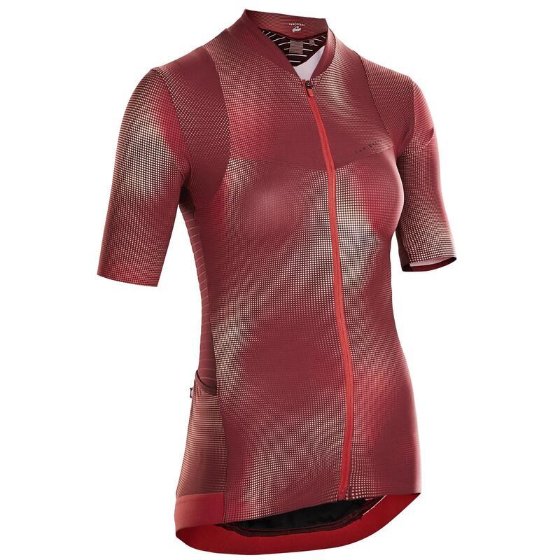 maillot vélo manches courtes RCR femme framboise vibrant