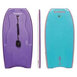 Bodyboard 500 Ltd violet / bleu clair avec leash biceps