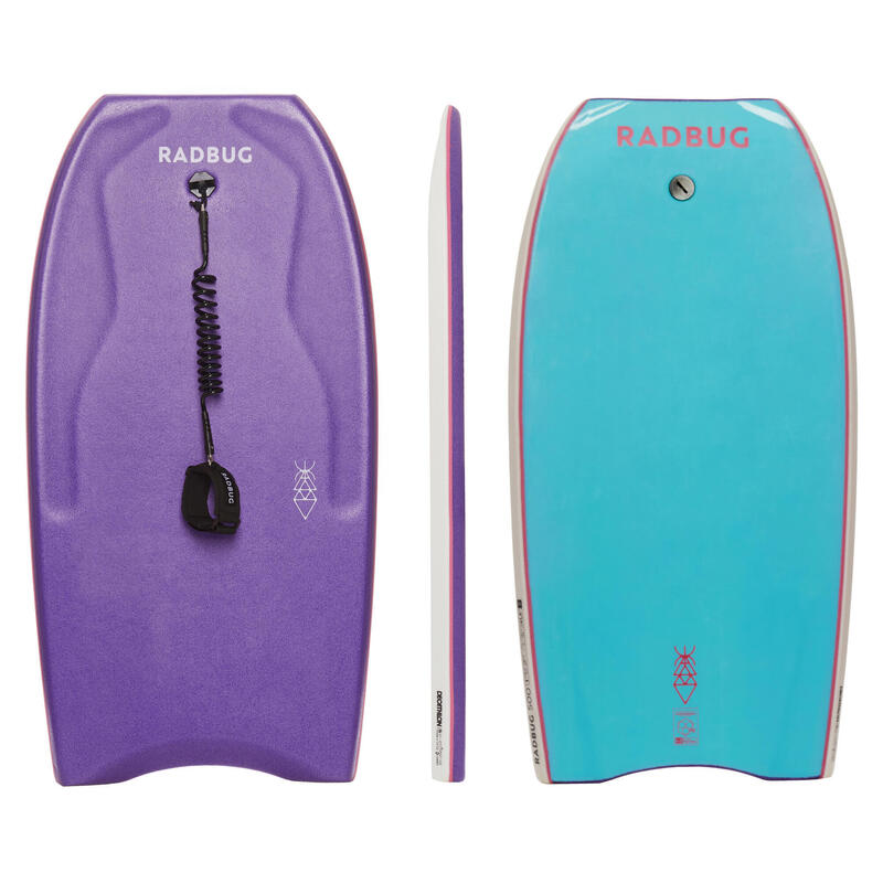 Bodyboard 500 Ltd lilla / azzurro con leash