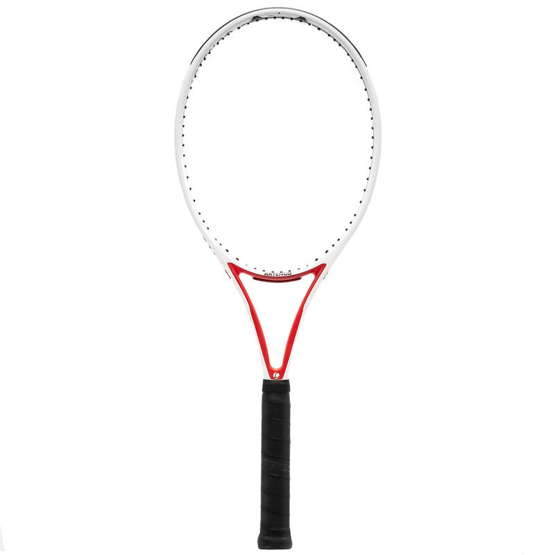 Adult Tennis Racket TR960 Precision Pro 16x19 - White/Red Unstrung