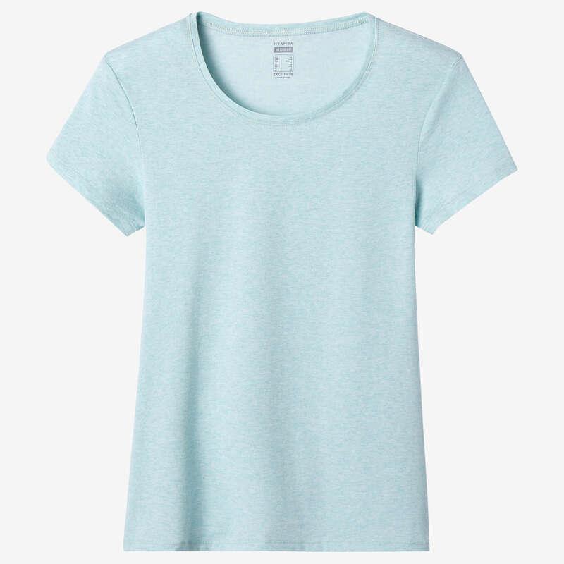 NŐI PÓLÓ, LEGGING, RÖVIDNADRÁG Fitnesz - Női póló 500-as, kék NYAMBA - Fitnesz ruházat és cipő