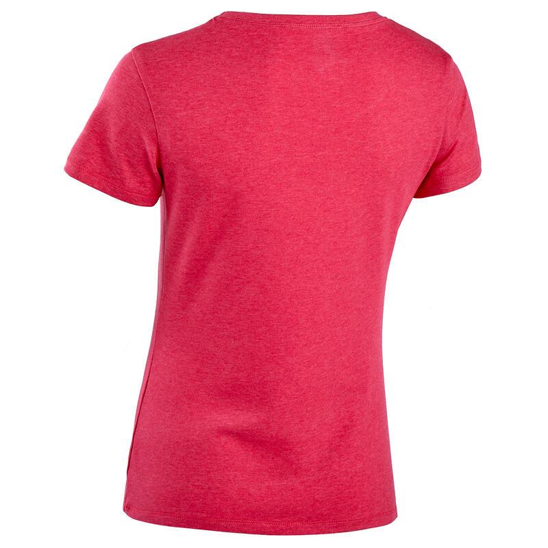 T-Shirt Coton Extensible Fitness Rose Chiné