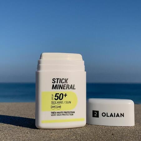 Natūralus mineralinis apsauginis kremas nuo saulės veidui, UPF50+