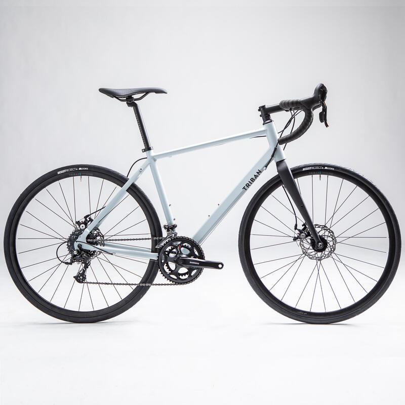 Vélo route Cyclotourisme RC120 Disque Gris Clair