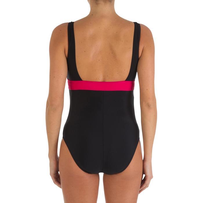 Maillot de bain grossesse de natation 1 pièce Romane noir rose