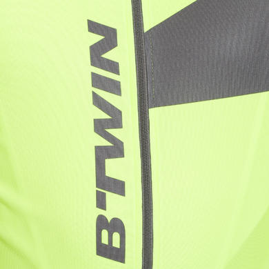 MAILLOT MANCHES COURTES VELO HOMME 700 FLUO GRIS