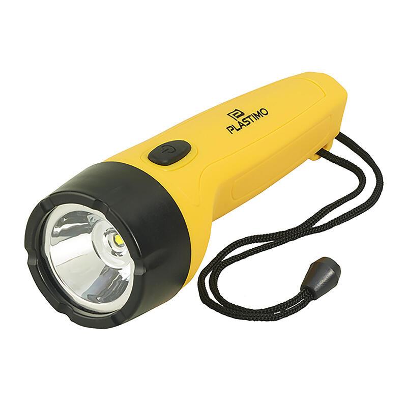 Lampe torche étanche 4 leds jaune