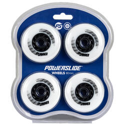 Rodas de Patins Freeride SPINNER 80 mm/88A Branco x4