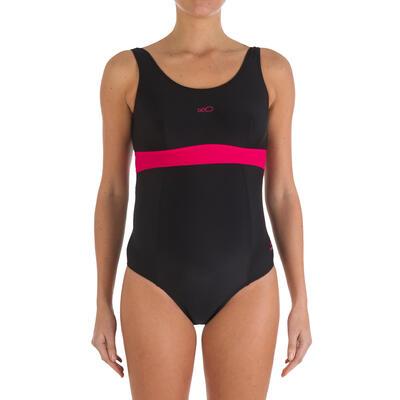 Vestido de baño enterizo futura mamá de natación Romane negro rosado