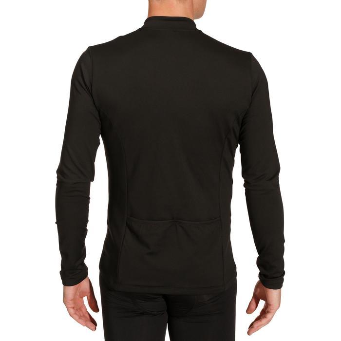 Fietsshirt met lange mouwen voor heren Roadcycling essentiel zwart