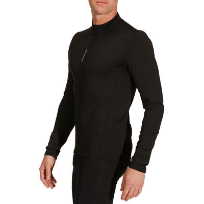 Men's Road Cycling Long-Sleeved Jersey Essential - Black