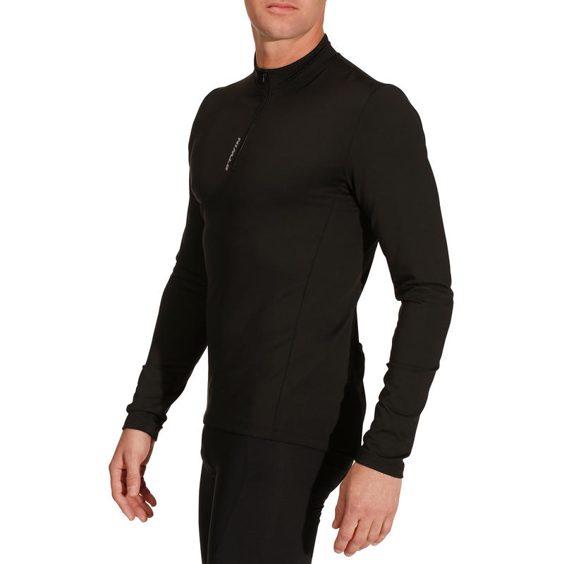 Essential Long-Sleeved Road Cycling Touring Jersey - Black
