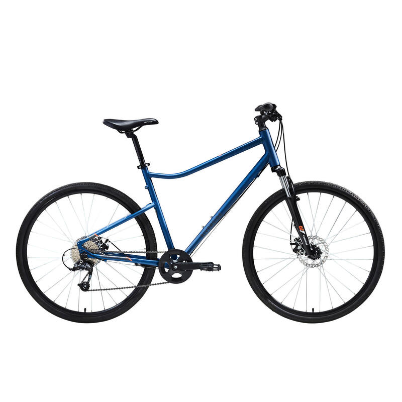 Riverside 500 Hybrid Bike - Blue/Orange