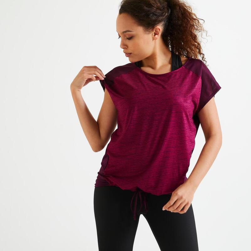Dámské fitness tričko 120 volného střihu