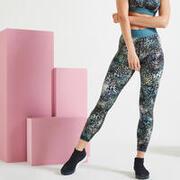 Mallas Leggings de talle alto Mujer Fitness Negro