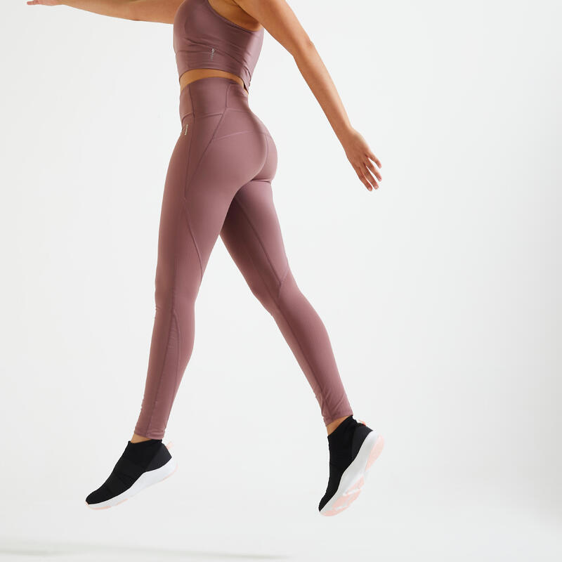 Mallas Leggings Mujer Fitness Cardio Training Marron