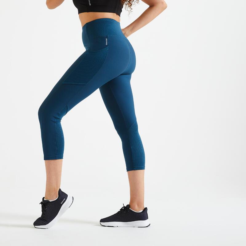 Kadın Koyu Mavi Fitness Taytı 120 - 7/8 - Kardiyo