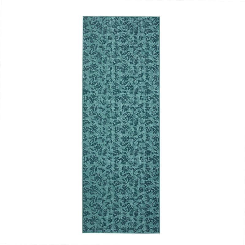 Tappetino yoga COMFORT 8 mm verde stampato 173x61cm