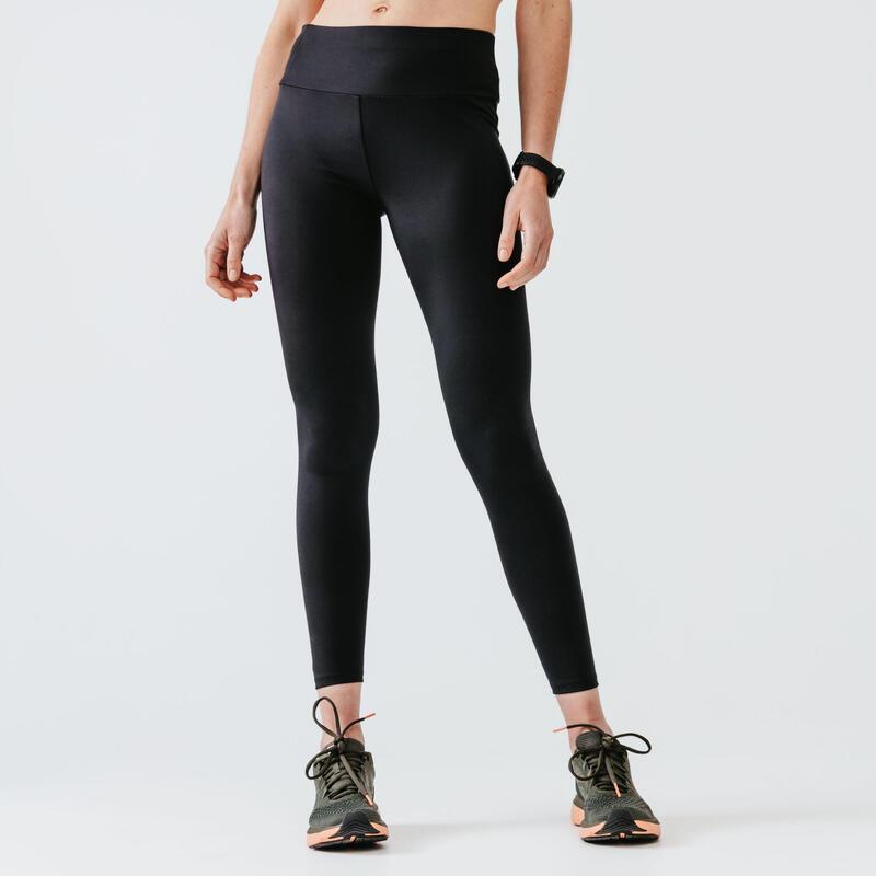 Legging running long femme - Support noir